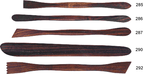 Handcrafted Polished Hardwood Modeling Tools