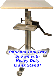 Tool Tray for Heavy Duty Crank Stands